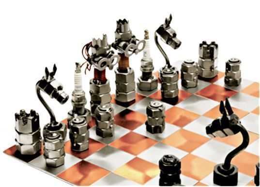 jeu d 39 checs en boulons. Black Bedroom Furniture Sets. Home Design Ideas